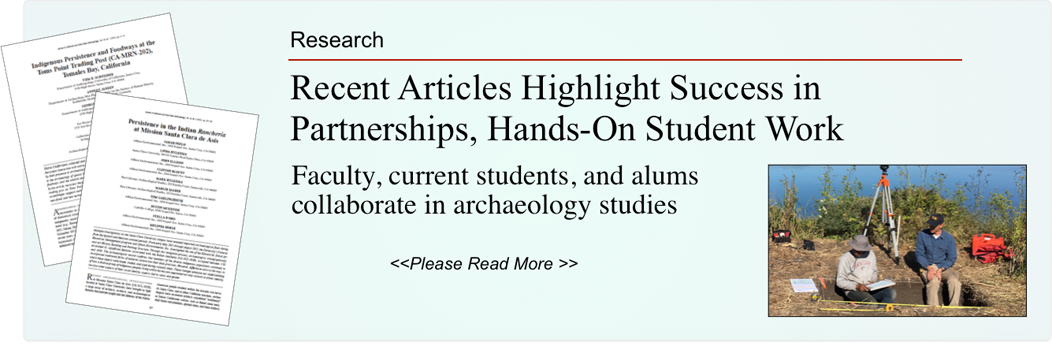 Recent articles highlight department partnerships, hands-on opportunities for students